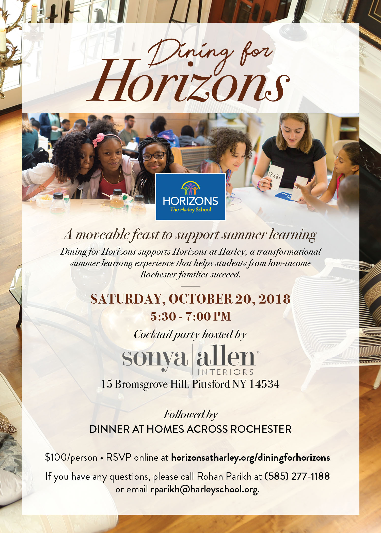 Dining for Horizons invitation